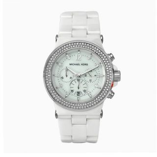 Michael Kors Womens Bel Aire Ceramic Watch in White