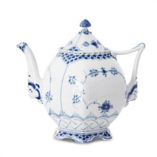 Royal Copenhagen Blue Fluted Full Lace 34 Oz Teapot