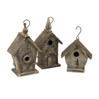 IMAX Cottage Mitchell Wood Bird Houses (Set of 3)