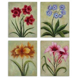 Uttermost Fun Time Florals Wall Art (Set of 4)