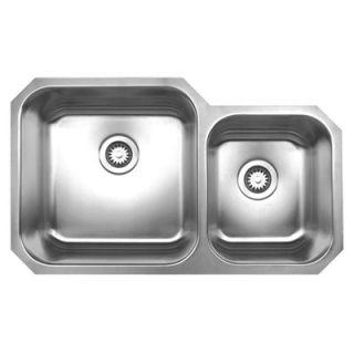 Whitehaus Collection Noahs Chefhaus 33.625 Double Bowl Undermount