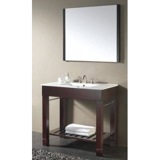 Avanity Loft 37 Bathroom Vanity in Dark Walnut   LOFT VS36 DW