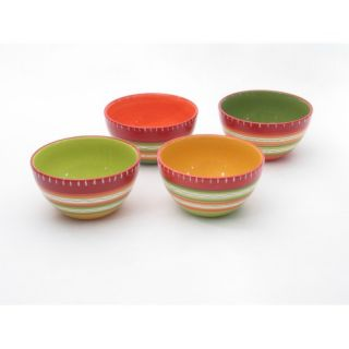 Certified International Hot Tamale Ice Cream Bowl in Assorted (Set of