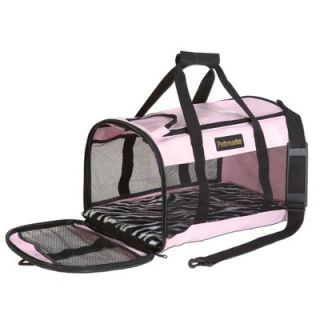 Sherpa Original Deluxe Pet Carrier in Brown with Pink Trim   55   X