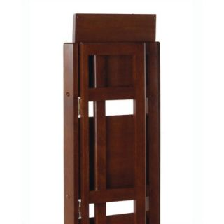 Winsome Basics 51 H Antique Walnut Folding Four Tier Bookshelf