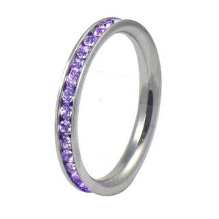Trendbox Jewelry Ladies Cubic Zirconia Wedding Band Ring   SRCZ59
