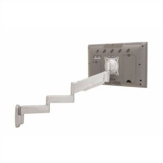 Height Adjustable Triple Arm Wall Monitor Mount for 10   30 Screens