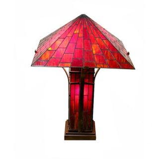 Warehouse of Tiffany Mission Double Table Lamp   TBS18312+D72