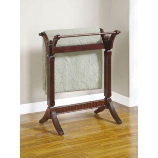 Powell Merlot Blanket/Quilt Rack