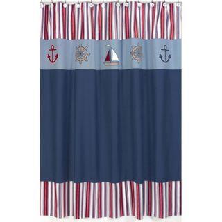 Sweet Jojo Designs Nautical Nights Shower Curtain   ShowerCurtain