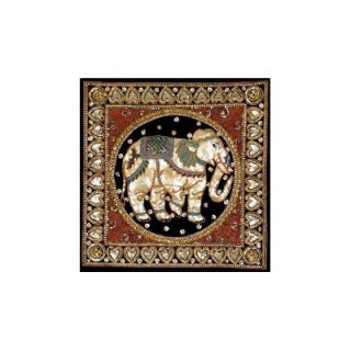 Oriental Furniture Burmese Elephant Tapestry Wall Art