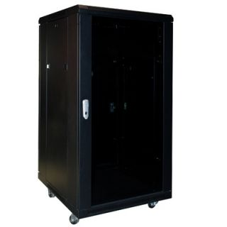 OmniMount Viking Enclosed 18 Space Rack with Cooling System in Black