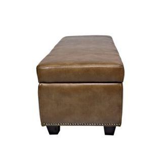 angeloHOME Kent Leather Storage Bench Ottoman   OTT410 DAB84A