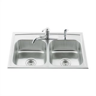 Kohler Toccata Double Equal Self Rimming Kitchen Sink