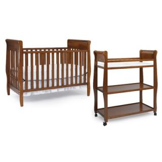 Graco Sarah Classic Two Piece Convertible Crib Set in Cinnamon