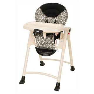 Delta Childrens Products Deluxe Zoo Loos Flat Fold Highchair