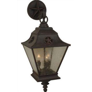 Craftmade Espana Outdoor Wall Lantern in Rustic Iron   Z5014 91