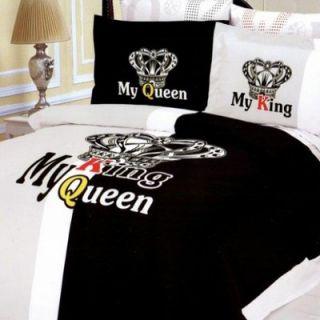 Le Vele Crown 6 Piece Full / Queen Duvet Cover Bedding Set