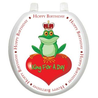 Whimiscal Toilet Seat Applique with King for A Day Design