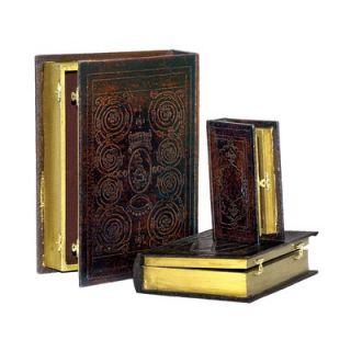 Sterling Industries Embossed Three Piece Book Box Set
