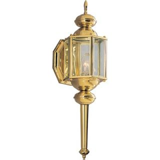 Progress Lighting 100W Brass Guard Small Outdoor Wall Lantern with