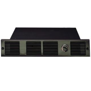 Cadet 240V Under Counter Fan Forced Wall Heater in Black