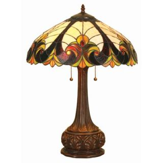 Chloe Lighting Tiffany Style Victorian Table Lamp with Eighteen
