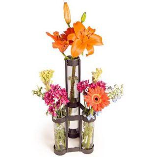 DanyaB Two Level Triple Tube Vase