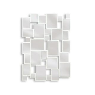 Kenroy Home Hockney Wall Mirror in Gloss White