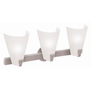 Access Lighting Vapor Vanity Light with Line Frosted Glass in Brushed