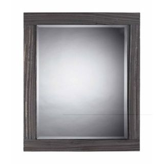 Solid Wood Framed Mirror in Distressed Waterview Grey   116 010