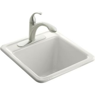 Kohler Park Falls Single Hole Self Rimming Kitchen Sink in White   K