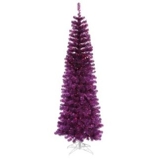 Vickerman 5.5 Artificial Pencil Christmas Tree in Purple