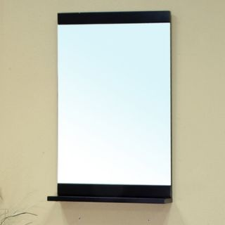 Bellaterra Home Ramsey Solid Wood Framed Mirror in Black   203107