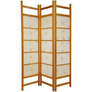 Oriental Furniture Botanic Decorative Room Divider in Honey   SSCBD