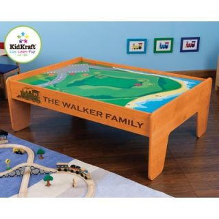 KidKraft Personalized Train Table in Honey   17840 Set