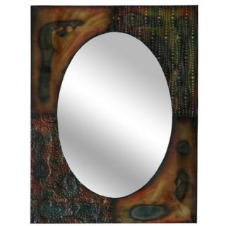 Crestview Punched Metal Wall Mirror   CVMRC006