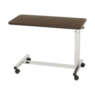 Drive Medical Low Height Overbed Table in Walnut