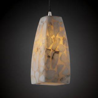 Justice Design Group Alabaster Rocks 1 Light Pendant   ALR 8816