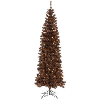 Vickerman 6.5 Artificial Pencil Christmas Tree with Clear Lights in