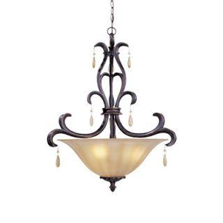 Designers Fountain Laurel 3 Light Inverted Pendant   94531 SE