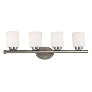 Kenroy Home Mezzanine Vanity Light in Brushed Steel