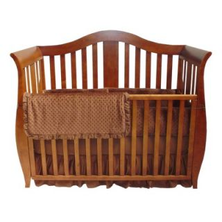 American Baby Company Heavenly Soft Minky Dot Mini Crib Bumper