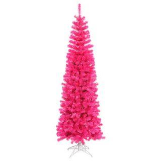 Vickerman 5.5 Artificial Pencil Christmas Tree in Pink