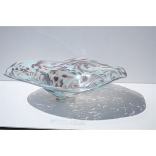 White Walls Hand Blown Decorative Bowl in Blue and Purple