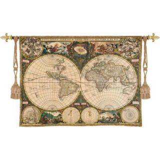 Fine Art Tapestries Old World Map Wall Hanging