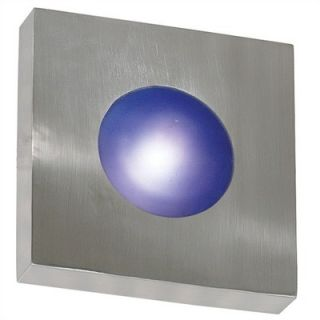Kenroy Home Burst Outdoor Square Wall Sconce in Polished Aluminum
