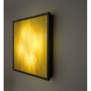 WPT Design FNBig Wall Sconce with Raw Glass Panel and Full Side