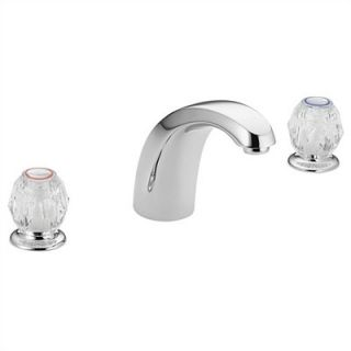 Moen Chateau Double Handle Deck Mount Tub Only Faucet Acrylic Knob