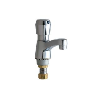 Chicago Faucets Single Hole Bathroom Sink Faucet with Single Pump